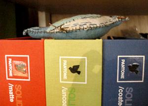 オフィスシェアメイトのE子ちゃんからもらったハンドメイドステッチのbirdのオーナメント。 この'Birds garden'のタイトルになっている鳥のモデルでもあります。